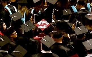College graduation hat